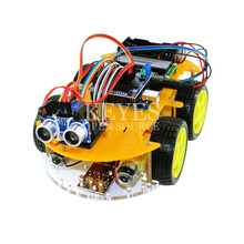 multi-function robot Car Kit Bluetooth Chassis suit Tracking Compatible UNO R3  DIY RC Electronic toy robot with Lcd1602