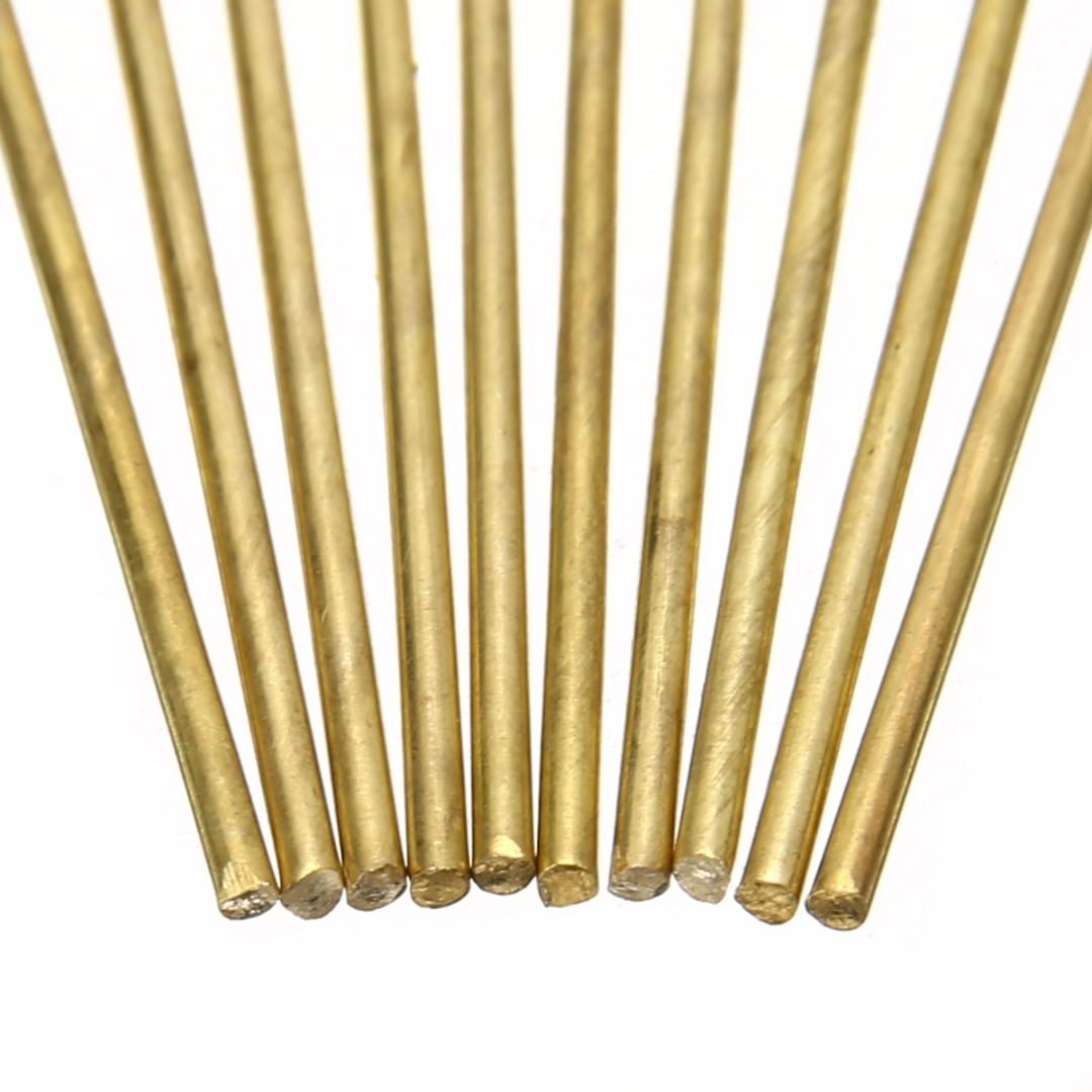 10pcs Brass Welding Rods Wires Sticks  1.6mm Diameter 250mm Length For Brazing Soldering Repair Tools