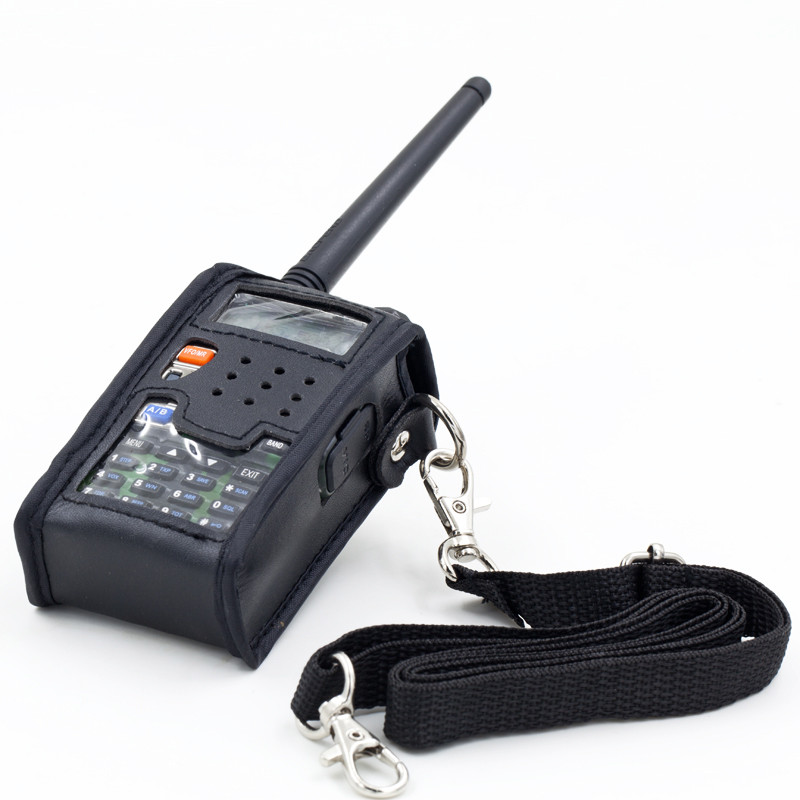 Walkie Talkie Leather Soft Case Cover For BAOFENG UV 5R Portable Ham Radio UV-5R UV-5RA Plus UV-5RE Plus UV-5RB RONSON UV-8R