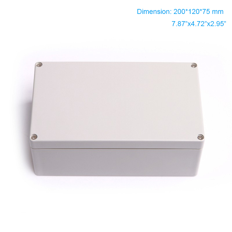 Free shipping , 200*120*75mm common type plastic box , ABS waterproof enclosure use as electric junciton box F1
