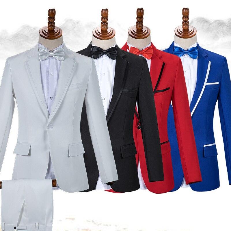Men Jacket Suit Man Formal Suit Nightclub Bar Dj Ds Gogo Show Costume Adults Singers Dancer Stage Performance Dancewear DT751