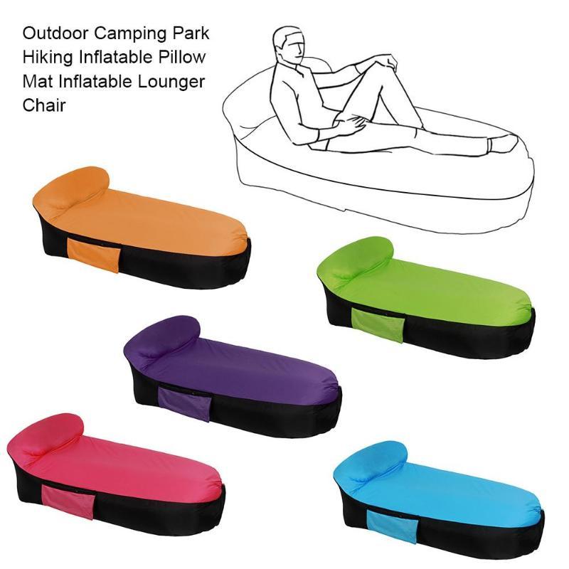 Pliage Gonflable Canapé Rapide Gonflable transat paresseux sac canapé de Haute Qualité En Plein Air sac de Couchage Détendre Air Canapé lit sac air chai