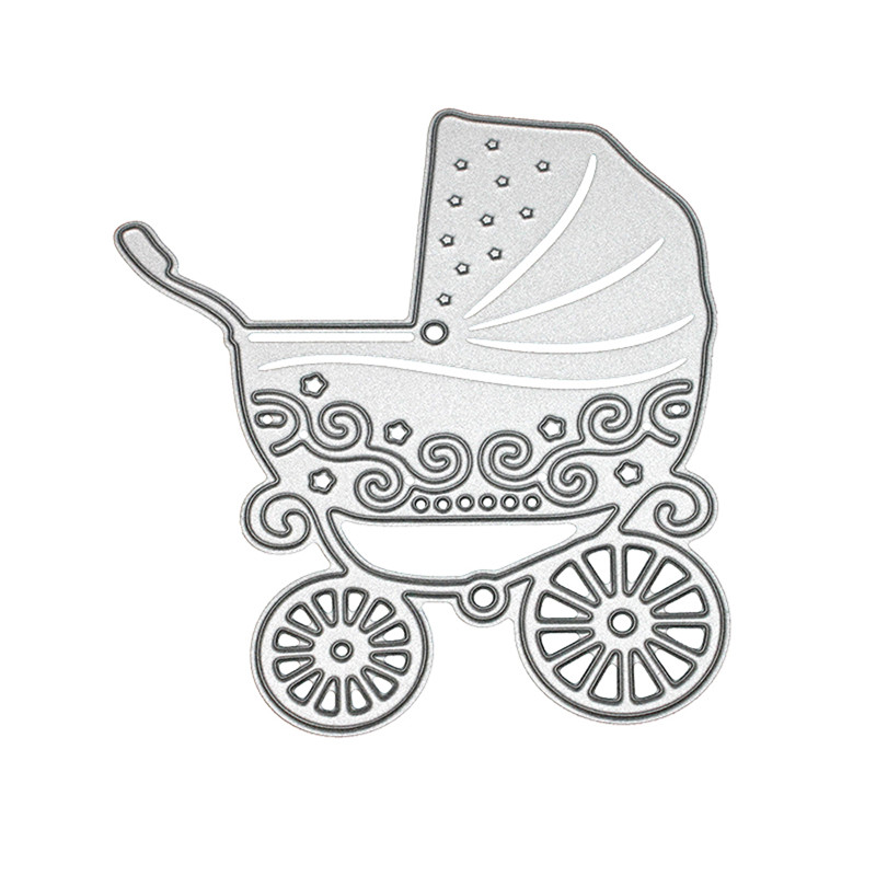 1pc Metal Baby Stroller Carbon Steel Template Embossing Cutting Dies ...