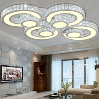 Modern line cut suction dome Ceiling lights bedroom study dining room living room lamp round Seminal Hotel crystal Ceiling lamps