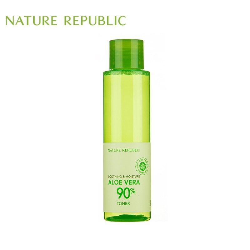 Nature Republic 160ml Face Toner Hydrating Moisturizing Soothing Aloe Vera 90% Essence Facial