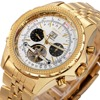 ORKINA Men Luxury Watches Tourbillon Mechanical Golden Metal Wrist Watch Strap Date Top Brand shockproof waterproof watch +BOX