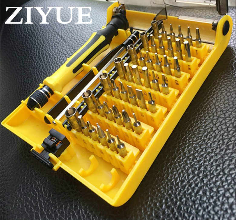 Free Shippping Precision 45 In 1 Electron Torx MIni Magnetic Screwdriver Tool Set Hand Tools Kit Opening Repair Phone Tools