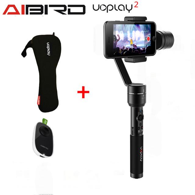 Aibird uoplay/uoplay 2 ejes cardán estabilizador de mano universal smartphone para iphone samsung htc para gopro & cámara de acción