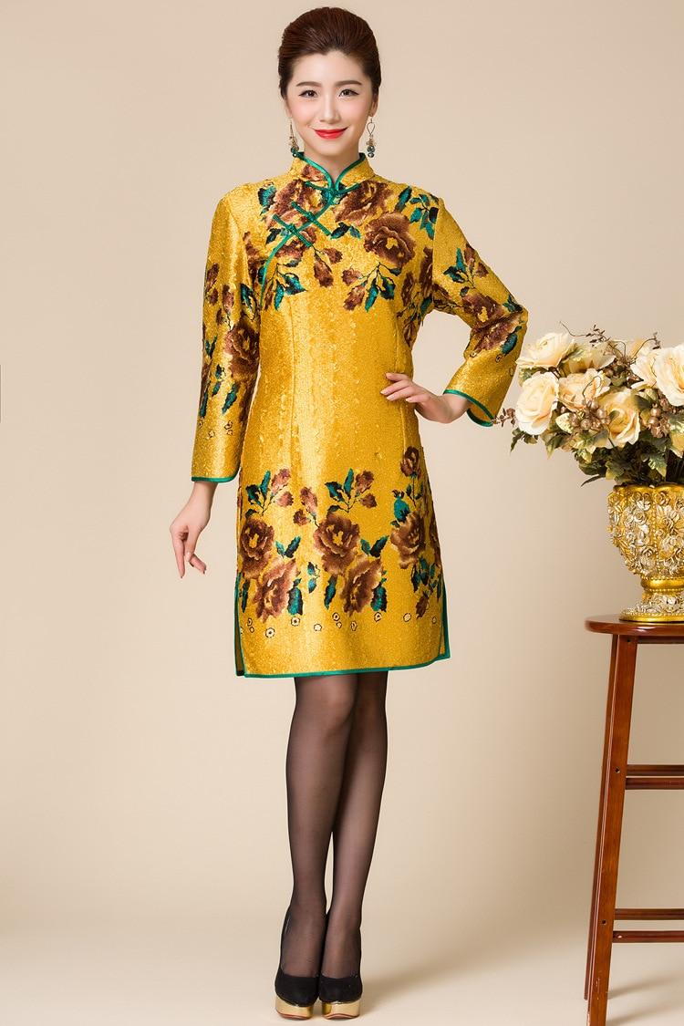 women jacket  women winter coat  The new autumn and winter fashion women's coat sleeve silk coat free shipping