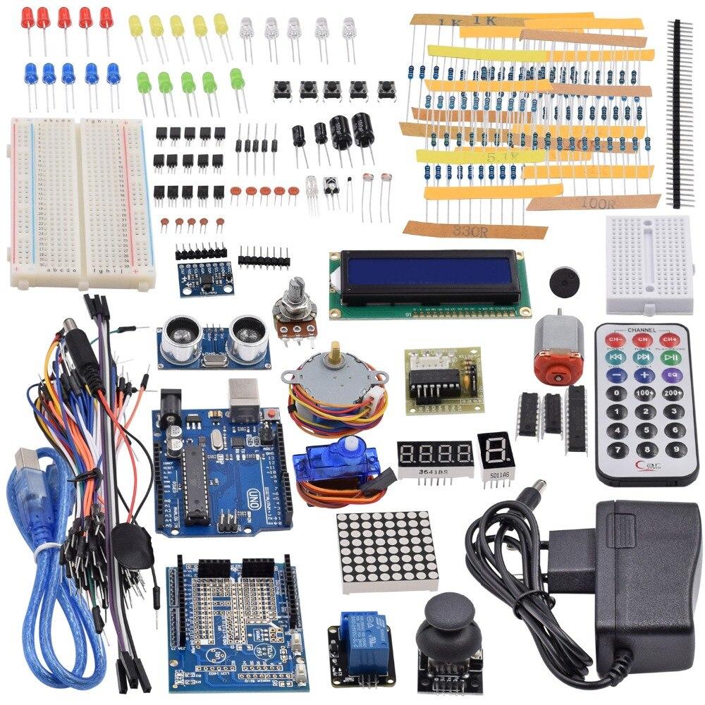 Ultimate Starter Kit в том числе ультразвуковой Сенсор, UNO R3, LCD1602 Экран для Arduino Mega2560 UNO Nano с Пластик коробка