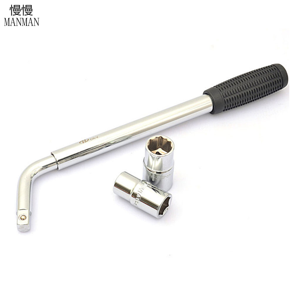Best Heavy Duty Telescopic Wheel Wrench Tool For Nut Bolt With 17mm-23mm Sockets