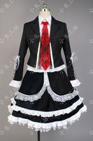 Amine Danganronpa Celestia Ludenberg Cosplay Costume Uniform Long Sleeve Top Short Dress Halloween Carnival Costume