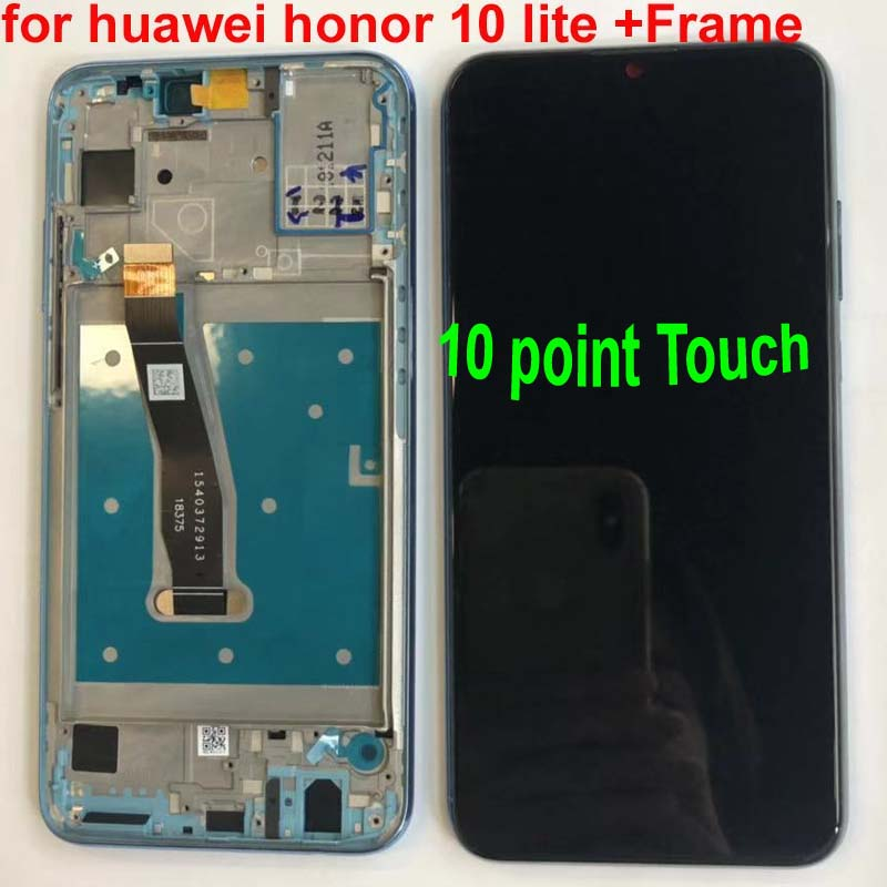 GRF&WENO Display For Huawei Honor 10 Lite LCD Touch Screen Digitizer With Frame
