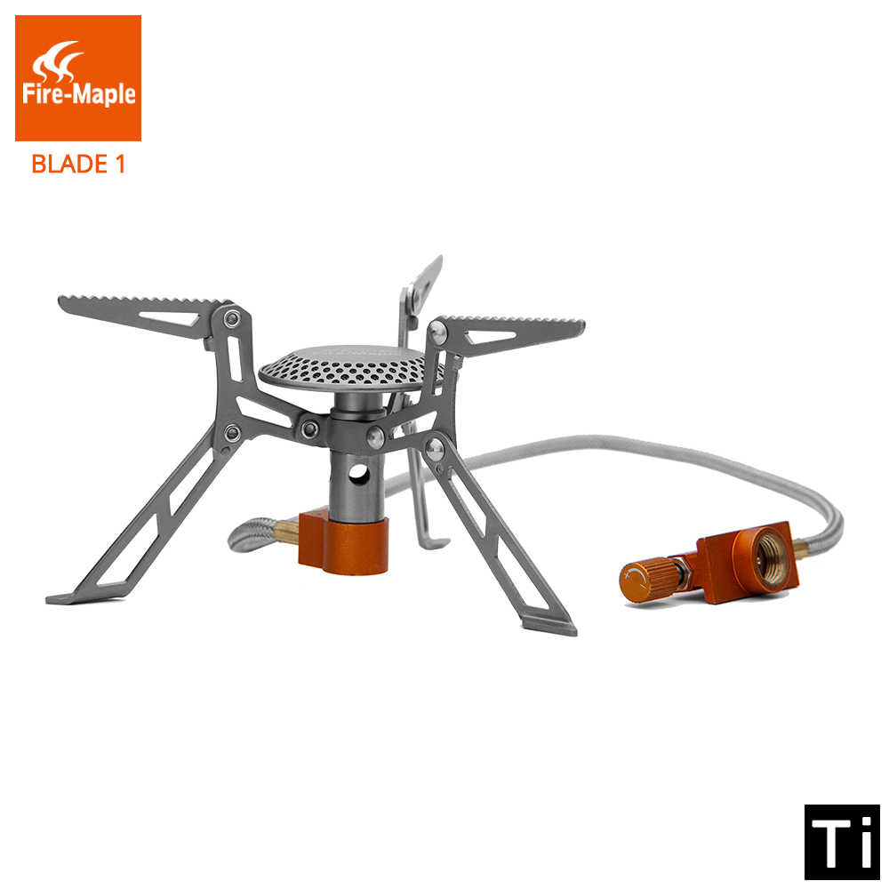Fire Maple Titanium Kompor FMS-117T Ultralight Outdoor Camping Hiking Kompor Ringan Tungku Gas Gas Burner