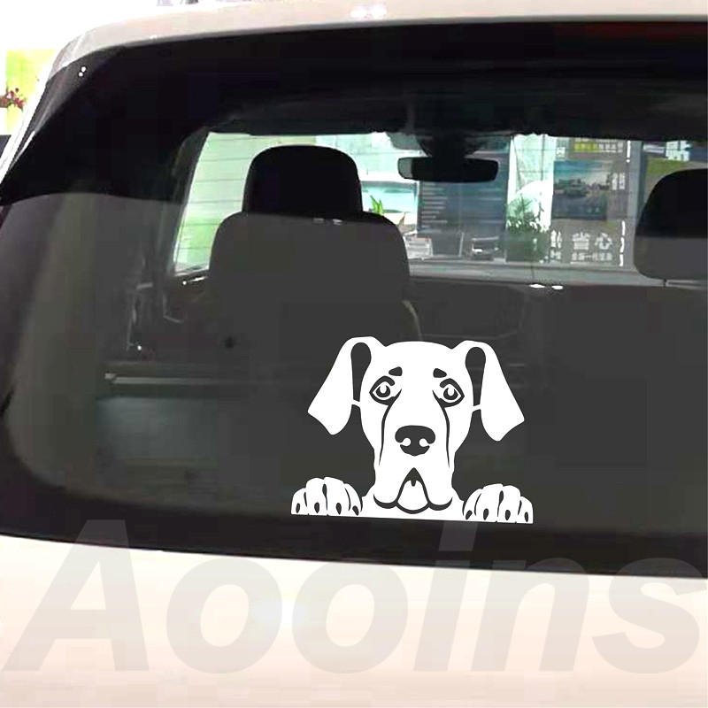 Great Dane Dog car decal with custom name