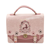 Japan Bag Lolita Style Women Lady Girls Alice Designer Embroidery Handbag Messenger Bag School Bag