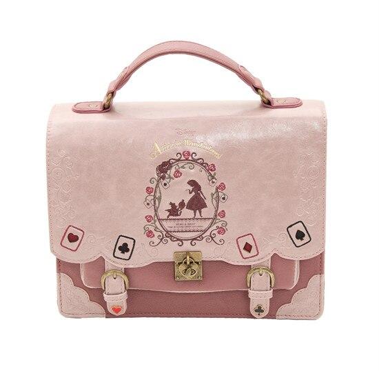 Japon Sac Lolita Style Femmes Dame Filles Alice au Pays Des Merveilles Designer Broderie Sac À Main Messenger Sac Sac D'école