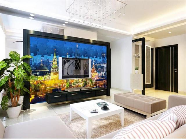 3d Photo Wallpaper Custom Living Room Mural Gothic Architecture Landscape Painting Sofa TV Background Wall