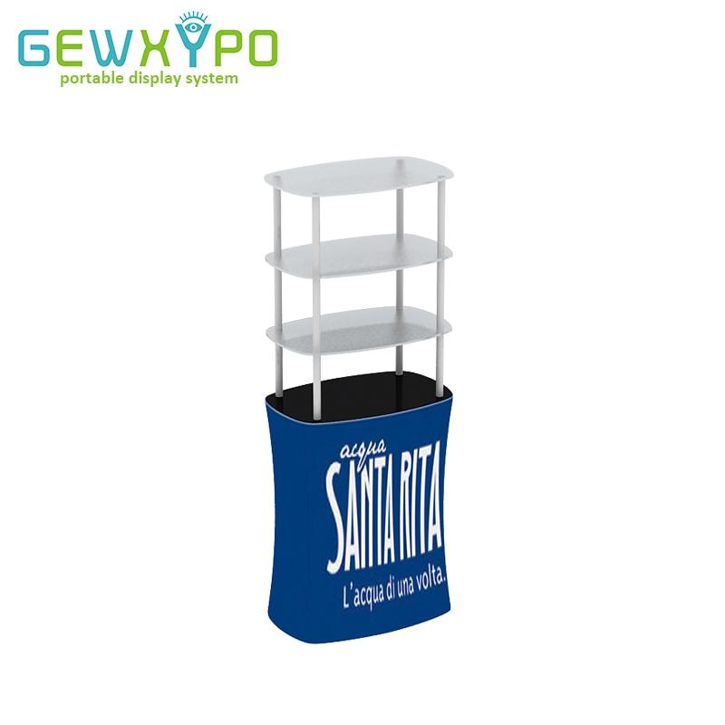 아크릴 진열대, 튼튼한 광고 선전용 테이블을 가진 고품질 무역 박람회 긴장 직물 기치 사각 카운터