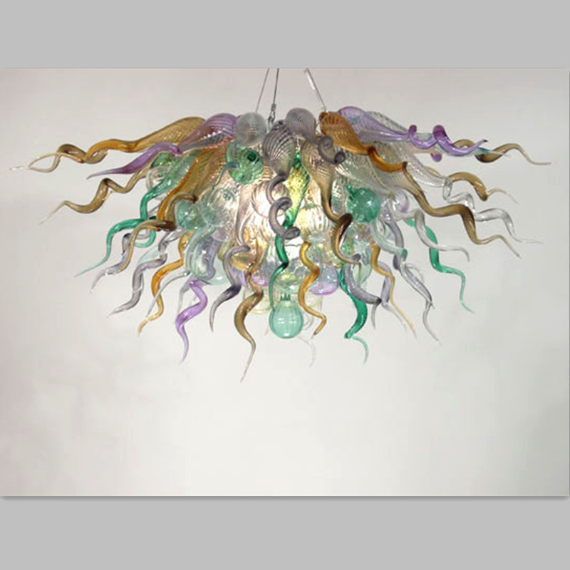 hand blown murano glass chandelier multiple color Color murano glass chandelier