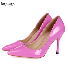 9CM Big Size Fashion Spring Autumn Woman Pointed Toe Shallow Pumps Women Shoes Thin High Heels Ladies Wedding Shoes XZL-B0007 new sale small and big size 32 46 spring autumn women pumps square toe woman high heels wedding party shoes high quality 7602