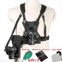 Micnova MQ MSP01 Carrier II Multi Camera Carrier Photographer Vest with Dual Side Holster Strap for Canon Nikon Sony DSLR Camera
