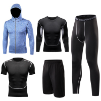Running Sets Men Sport Suits Quick Dry Basketball Soccer Tights Compression Gym Fitness Sportswear Jogging Training Sets Clothes