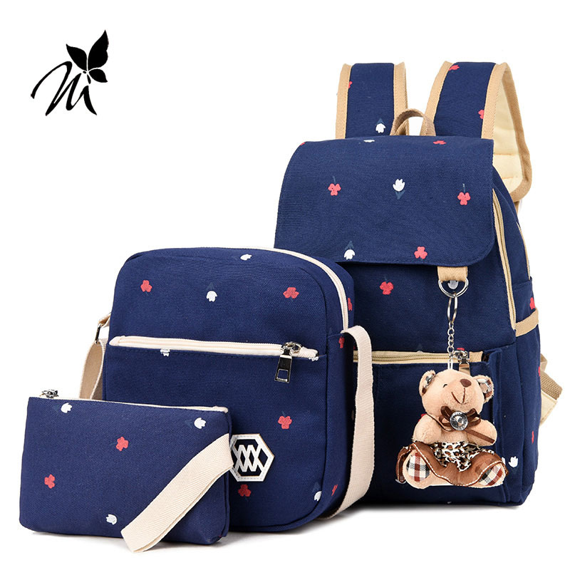 Speed sell tong female backpack bag hot style 4 is high school students Institute of Japanese and Korean junior high pupil canva