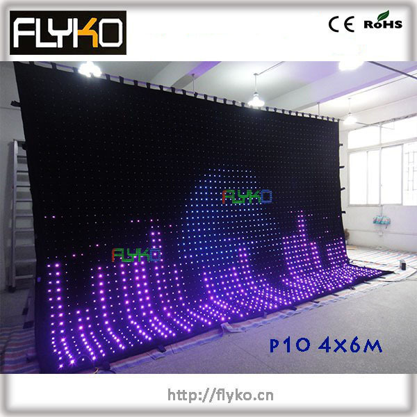 Free Shipping Flexible Led Stage Curtain Wall Screen
