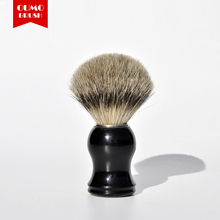 OUMO BRUSH-best badger hair knot black plastic handle shaving brush