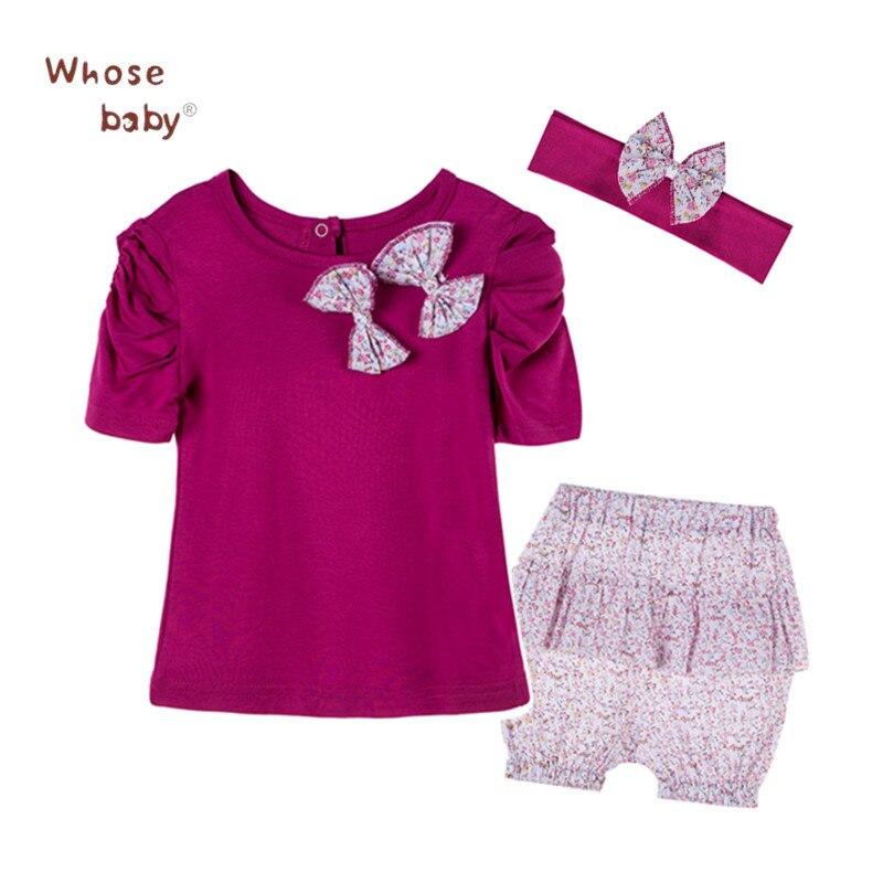 Zomer baby meisjes kleding set prinses katoen pasgeboren t-shirt + - Babykleding - Foto 2