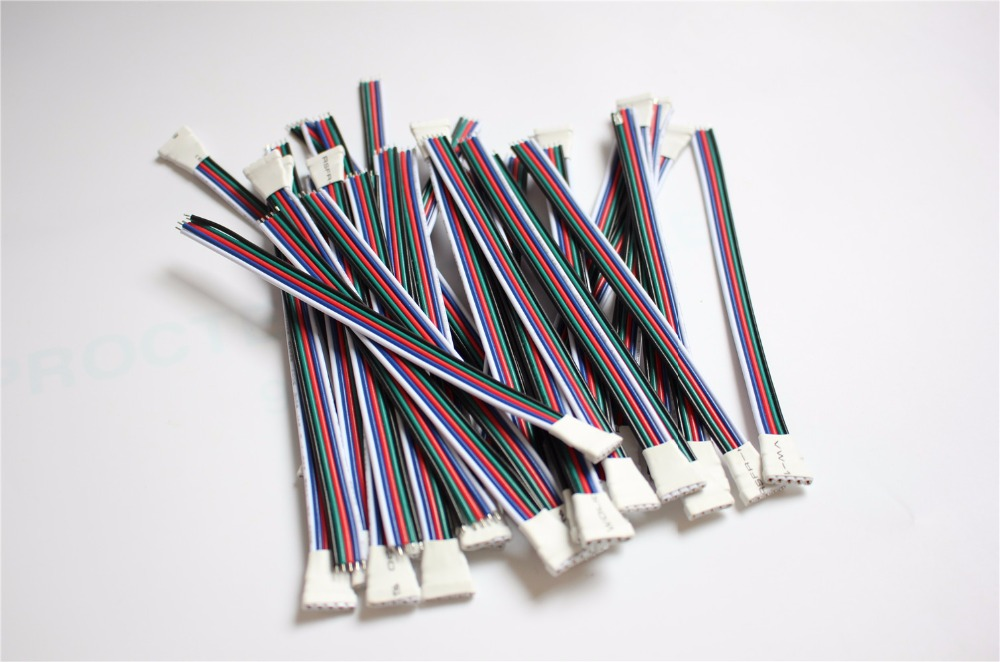 10-100pcs/lot LED Strip 5 Pin Connector Male Female  RGBW Wire 5P Cable 22AWG 5 Colors for 12V running strip RGB Extension pz0 5 16 0 5 16mm2 crimping tool bootlace ferrule crimper and 1k 12 awg en4012 bare bootlace wire ferrules