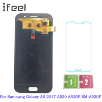 Super AMOLED A5 LCD For Samsung Galaxy A5 2017 A520 A520F A520DS LCD Display Touch Screen Digitizer Assembly