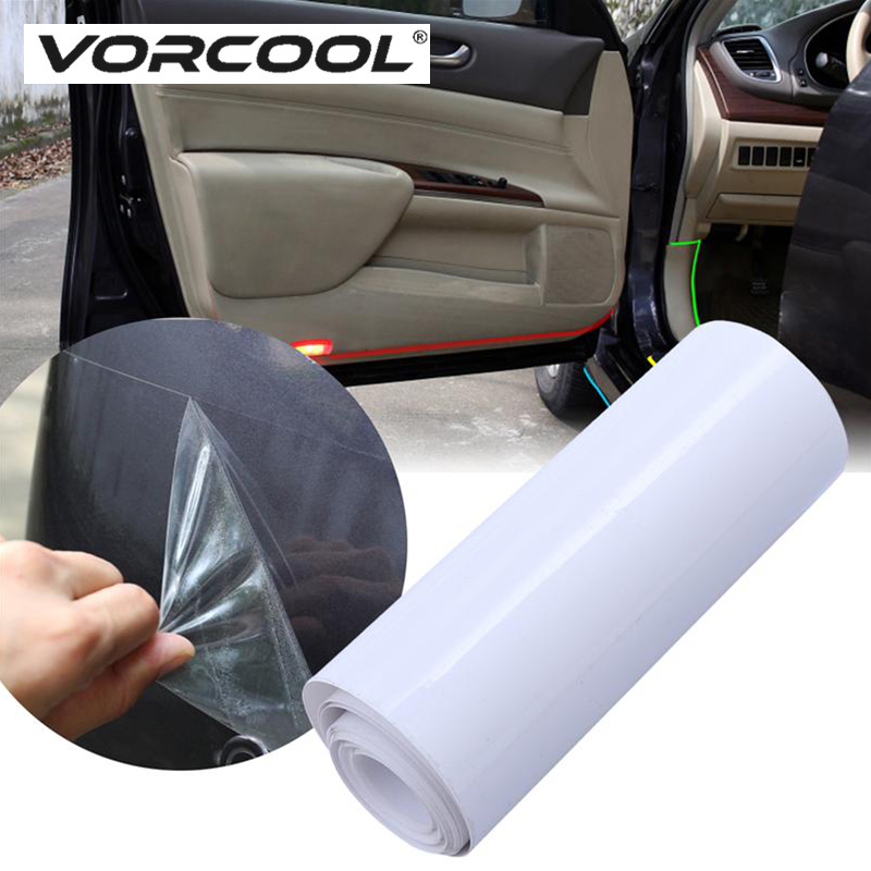 VORCOOL Auto Car Protect Film Anti Scratch Coating Film OPVC Door Lamp Paint Surface Protector Film Cover Car Styling Sticker
