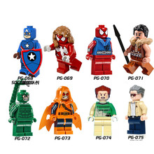 8pcs/lot Anime Heroes Assemble Minifigures Building Blocks Action Figure Toys Christmas Gifts