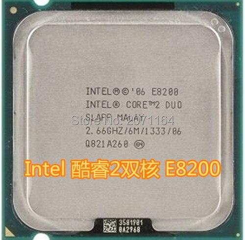 Бесплатная доставка для Intel Core 2 Duo E8200 2.66 Г настольный компьютер CPU