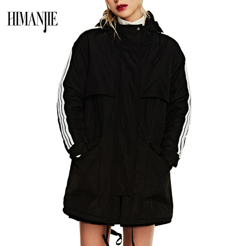 Winter Jacket Women Hooded Winter Coat Fashion Women Parka Large Size Cotton - padded Cashmere Lined Coat for Women nike alliance parka 550 hooded