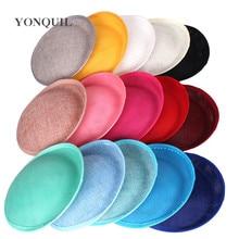 Base de fascinador imitação sinamay 20cm, para fazer festa chapéus diy, millinaria, cabelos de casamento, 22 cores para seleção