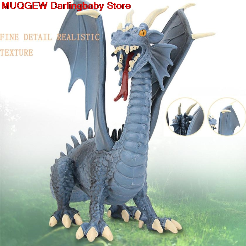 Learning Educational Simulation Blue Dragon Dinosaur Model Fun Funny Gadgets Novelty Interesting Toys For Children Birthday Gift