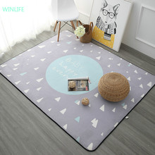 WINLIFE Nordic Style Carpets For Living Room Home Bedroom Rugs And Carpets Coffee Table Brief Area Rug Kids Play Mat