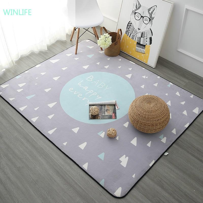 WINLIFE tapis de Style nordique pour salon maison chambre tapis et tapis Table basse brève zone tapis enfants tapis de jeu