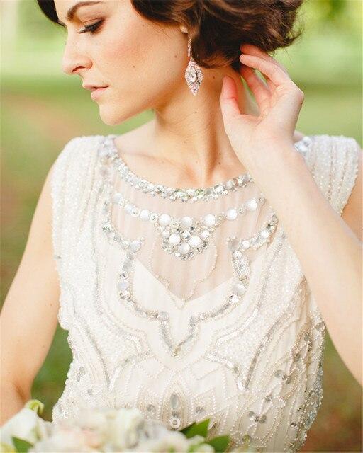 Boho Beige Long Wedding Dresses 2017 Romantic Slim Chiffon Guest Gown Women Marry