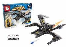 SY307 Avenger Super Hero Batman Batwing Minifigure Building Block Toys   Brick Gift