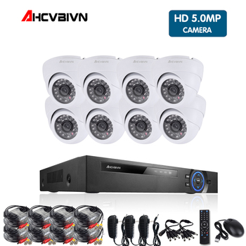 8CH CCTV Security Camera System HD 4MP AHD DVR 8PCS 4.0MP indoor Dome CCTV Camera System 8 Channel Video Surveillance Kit цена 2017