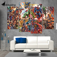 Wall Art Canvas Painting Marvel Comics HD Printed 4 Pieces Poster Room Decor Pictures for Living Room Free Shipping XA416B marvel comics universe poster