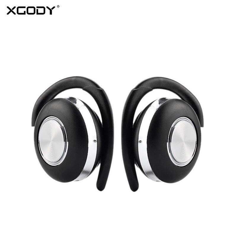 XGODY Ar V5 TWS Gancho do Ouvido Com Cancelamento de Ruído Fones De Ouvido Estéreo Bluetooth 5.0 Fone De Ouvido Sem Fio fone de Ouvido Bluetooth Com Microfone