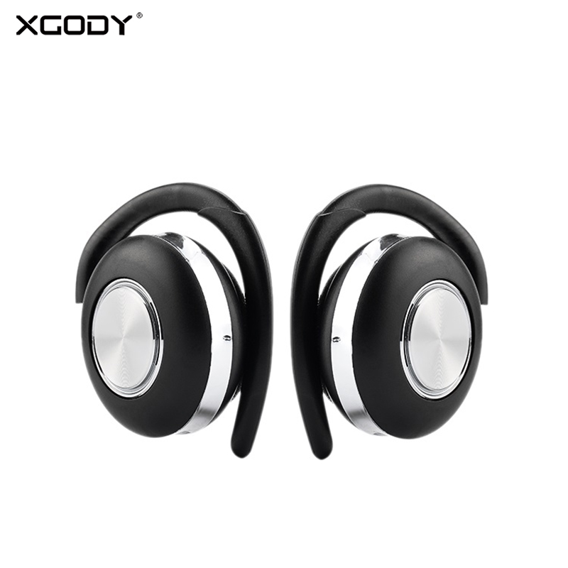 XGODY Air <font><b>V5</b></font> <font><b>TWS</b></font> Wireless Headphones Stereo Bluetooth 5.0 Earphone Ear Hook Noise Cancelling Bluetooth Headset With Microphone image