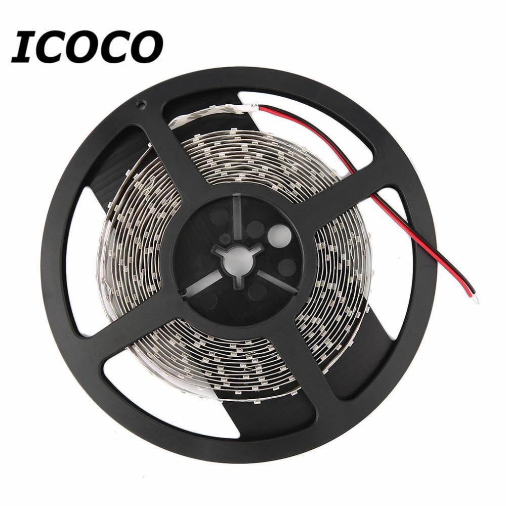 Icoco 1 м 12 В гибкие светодиодные полосы 3528 SMD 60 Светодиодные ленты свет двусторонняя клейкая 60leds/ метр светодиодные полосы света Декор свет