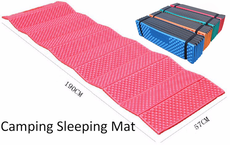 Outdoor Camping Mat Foam Picnic Mat Folding Egg Solt Waterproof Beach Pad Moistureproof Mattress with Bag