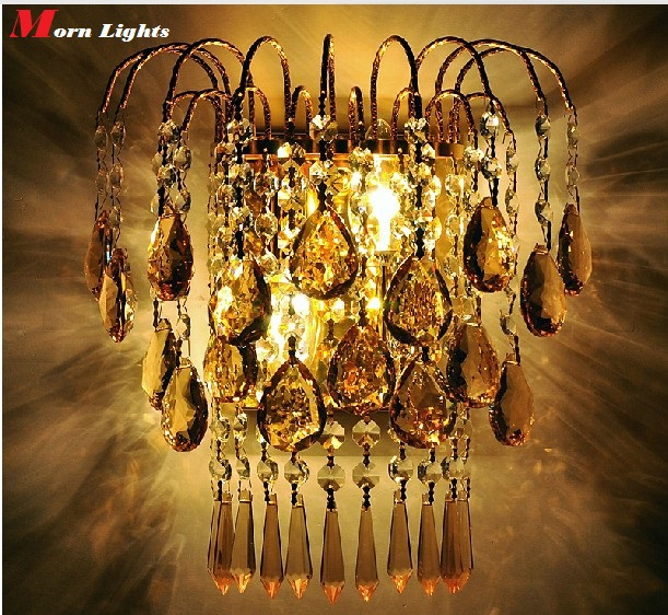 Image 2 - crystal light fixture Luxury Top crystal Wall Lamp gold wall Sconce lamp Bedroom living room wall lamps sconce crystal light-in Wall Lamps from Lights & Lighting